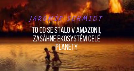Jaromír Schmidt: To co se stalo v Amazonii, zasáhne ekosystém celé planety
