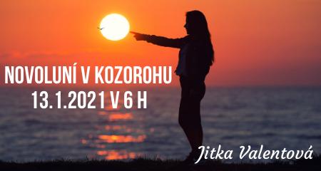 Jitka Valentová: Novoluní v Kozorohu 13.1.2021 v 6 h