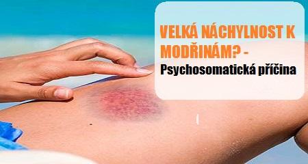 Jitka Bičíková: VELKÁ NÁCHYLNOST K MODŘINÁM? -  Psychosomatická příčina